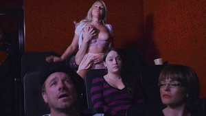 Kylie Page suck and fuck her boyfriend in the theater.