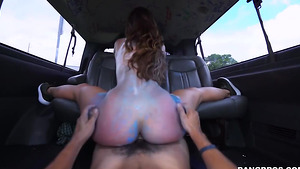 Amateur fuck flicks with colored babe Kelsi Monroe in the bus