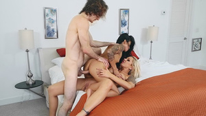 Young couple Sadie Pop and Brick fucking with neighbor busty MILF Nina Elle!