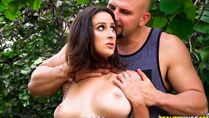 Dads cock-hungry girlfriend, Ashley Adams campside cheat!