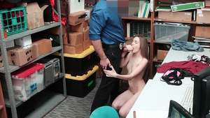 Young thief Kimmy Granger is caught and ready to suck the dick, so as not to call the police!