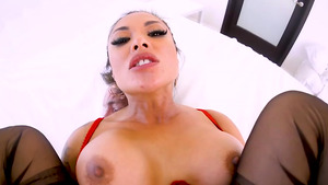 Asian babe Kendra Spade anal fucked and deep throated