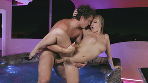 Bailey Brooke wet pussy fuck in a hot tub!
